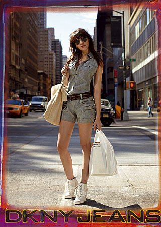 Daisy Lowe for DKNY Jeans Spring/Summer 2009