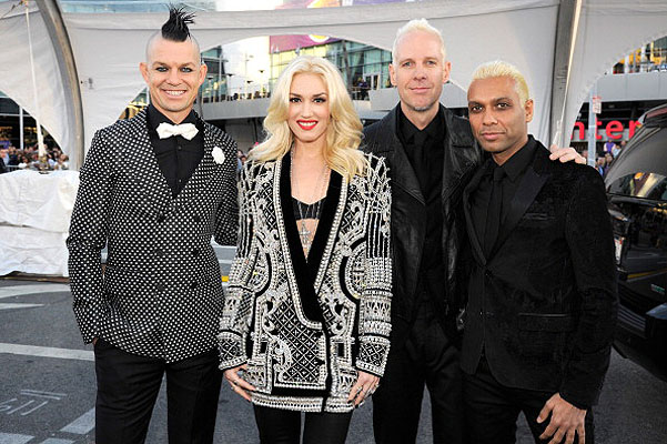 группа No Doubt на American Music Awards 2012