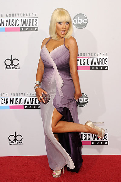 Кристина Агилера на American Music Awards 2012