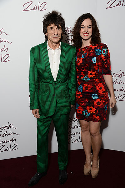 Рони Вуд на British Fashion Awards 2012
