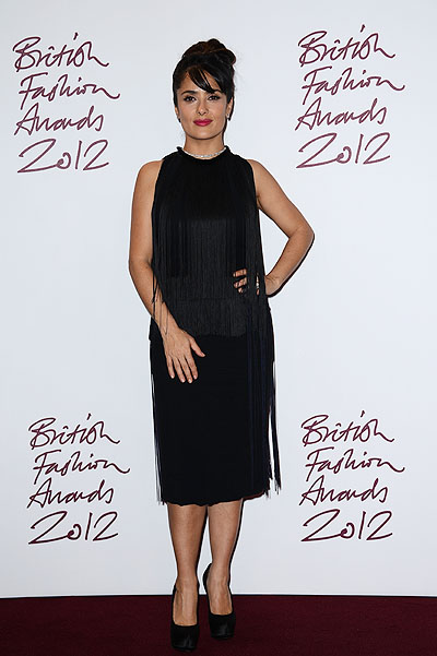 Сальма Хайек на British Fashion Awards 2012