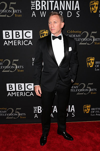 Дэниел Крейг а церемонии BAFTA Britannia Awards в Лос-Анджелесе