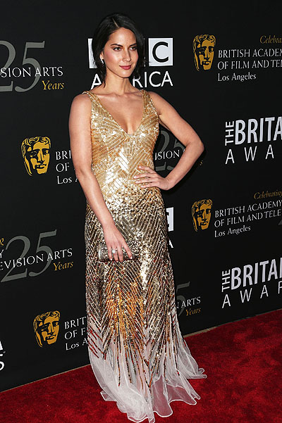 Оливия Манн на церемонии BAFTA Britannia Awards в Лос-Анджелесе