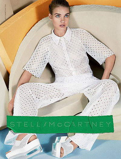 наталья водянова в рекламе stella mccartney ss 2013
