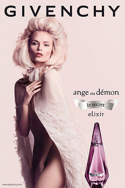 Наташа Поли в рекламной кампании парфюма Givenchy Ange Ou Demon Le Secret Elixir 2012 года
