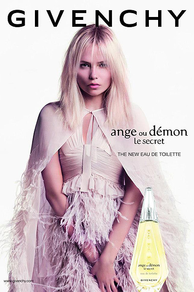 Наташа Поли в рекламной кампании парфюма Givenchy Ange Ou Demon Le Secret