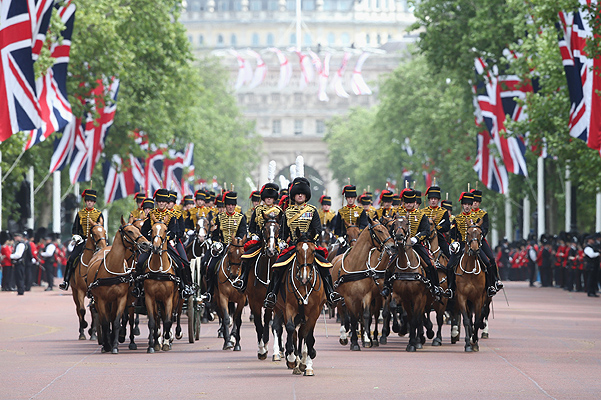 Британские монархи на параде Trooping the Colour