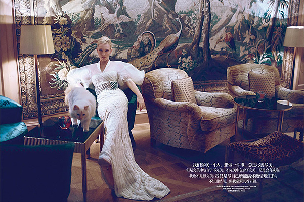 Голливудская актриса Кейт Бланшетт для журнала Harper's Bazaar China ноябрь 2013