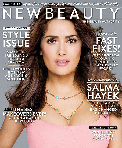 сальма хайек для new beauty magazine