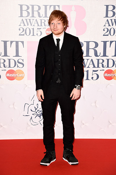 Эд Ширан на BRIT Awards-2015