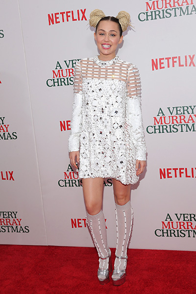 Miley Cyrus White Short Cocktail Dress Peoples Choice