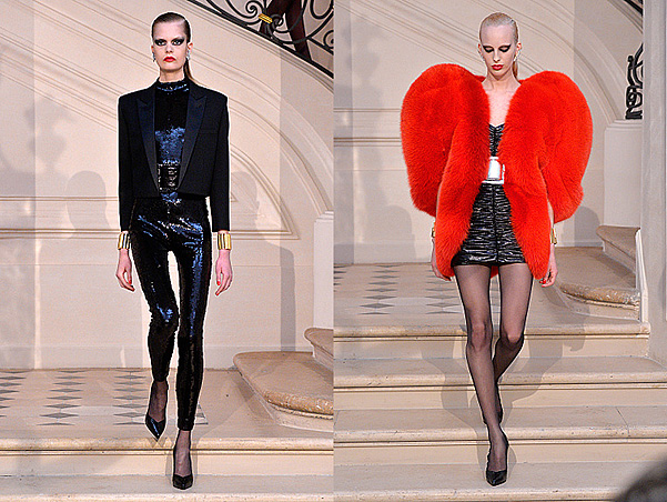 Saint Laurent осень-зима 2016-2017