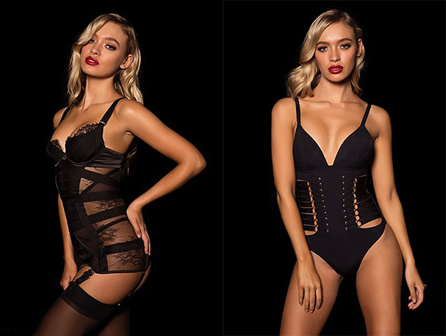 Рокси Хорнер в лукбуке Honey Birdette