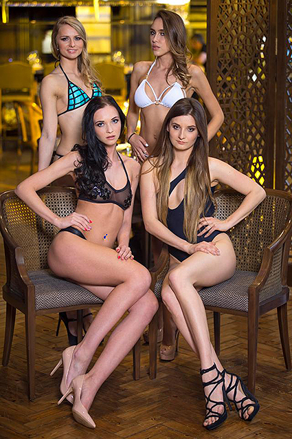 Arina Cernysiova (top left), Anastasia Boil (top right), Viktorija Kartanovic (bottom left), Jolanta Wnuk (bottom right)