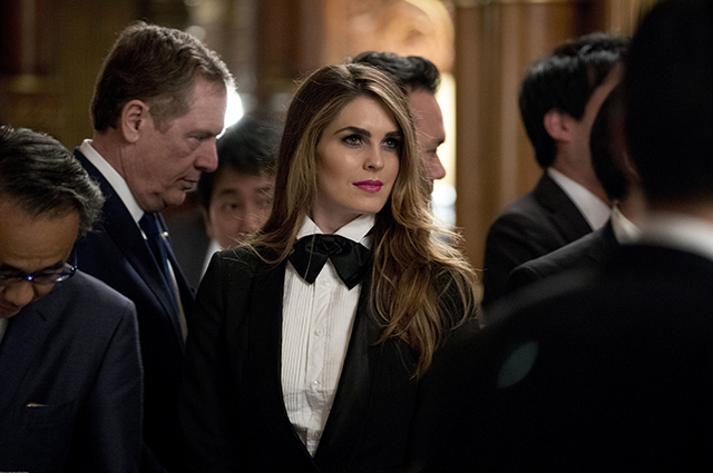 Assistant Trump Hope Hicks eclipsed everyone at a government banquet in Japan