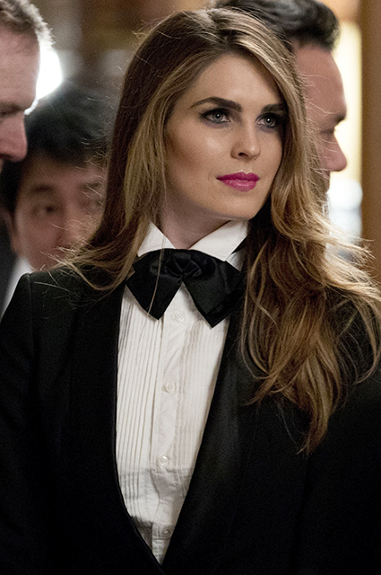 Hope Hicks at a banquet in Japan