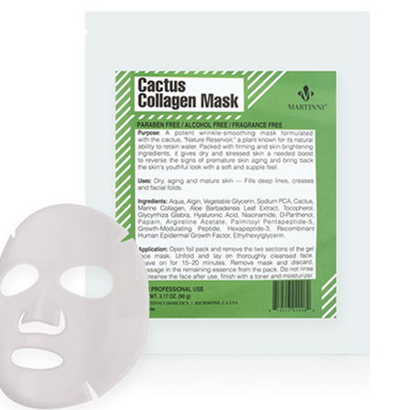 Маска Cactus Skin Revival Collagen Mask, Martinni Beauty