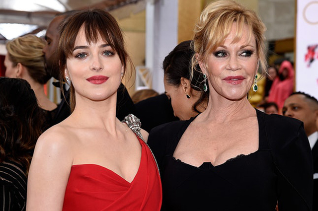 Dakota Johnson with mom Melanie Griffith