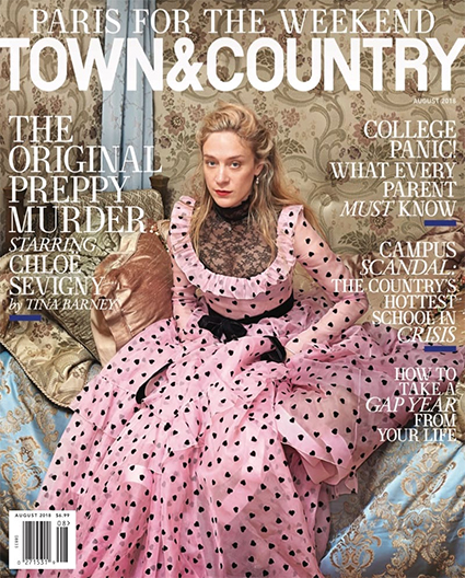 Хлои Севиньи, Town&Country, август 2018