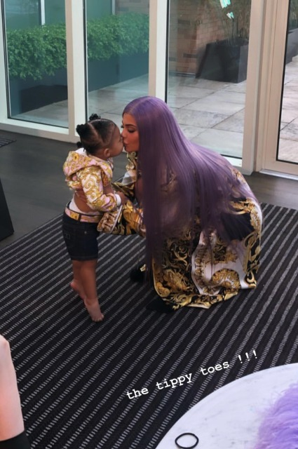 Kylie Jenner with daughter Stormy