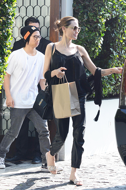 Angelina Jolie with her son Pax