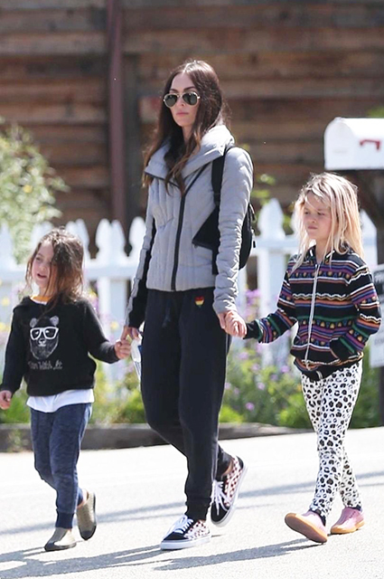 Megan Fox with sons Bodhi and Noah
