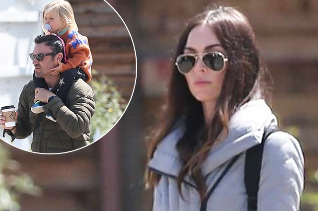 Family idyll: Megan Fox and Brian Austin Green and their sons shopping in Los Angeles