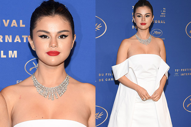 Again in white: Selena Gomez at the gala dinner in honor of the opening of the Cannes Film Festival