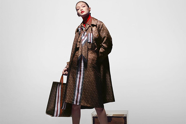 From tomboy to lady: Gigi Hadid in different images starred in the new Burberry campaign