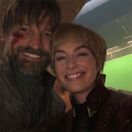 Lena Hidi and Nikolai Coster-Waldau
