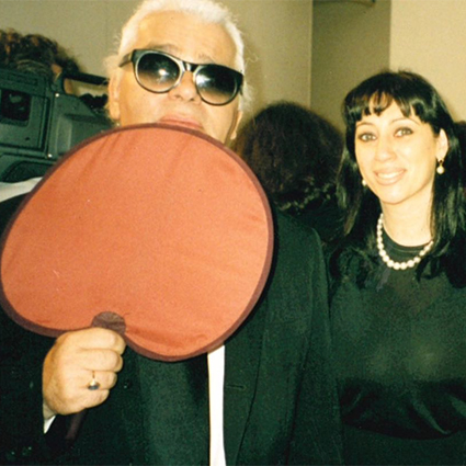 Karl Lagerfeld and Alla Werber