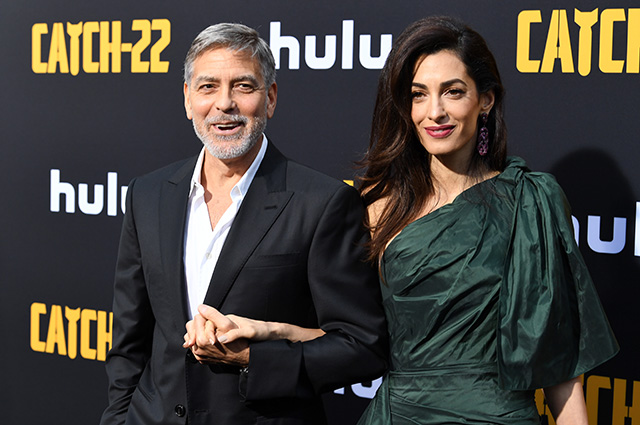 Amal Clooney supported George Clooney's husband at the premiere of a mini-series.