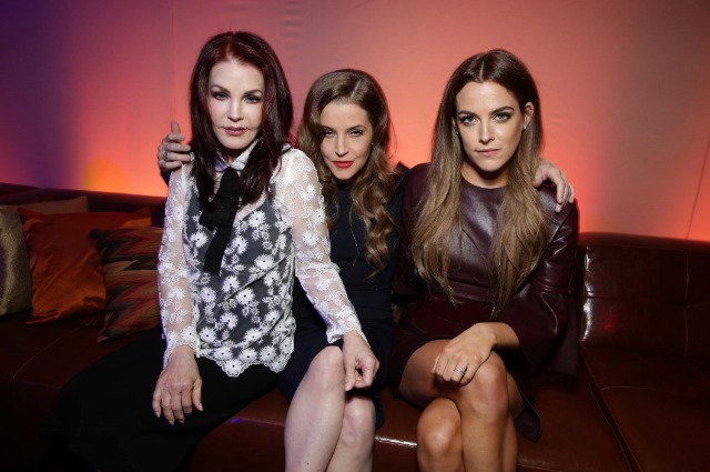 Priscilla, Lisa Maria and Riley Presley