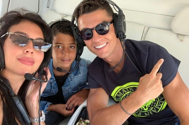 Cristiano Ronaldo with Georgina Rodriguez and eldest son resting in Saint-Tropez