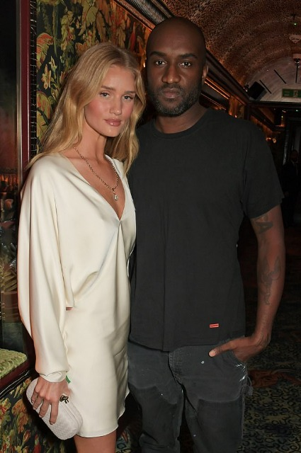 Rosie Huntington-Whiteley and Virgil Ablo
