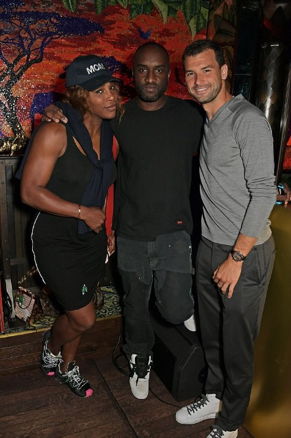 Serena Williams, Virgil Ablo and Grigor Dimitrov