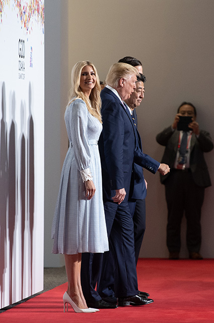 Ivanka and Donald Trump and Shinzo Abe