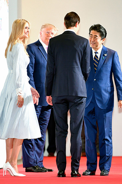 Ivanka and Donald Trump, Shinzo Abe and Jared Kushner