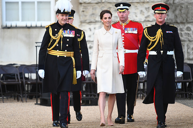 Kate Middleton for the first time took the parade of horse guards in London
