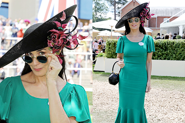 Hollywood glamor: Demi Moore visited the Royal Ascot 2019 horse racing