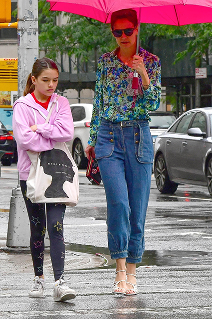 Katie Holmes with her daughter Suri