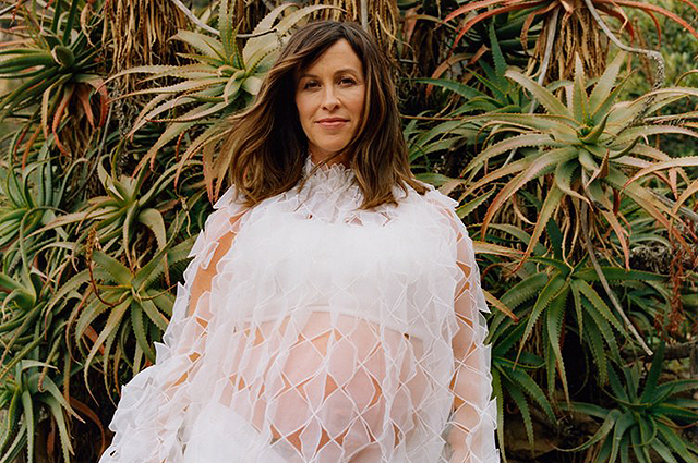 Alanis Morissette discusses a candid interview on the network about pregnancy at 45, depression and #MeToo