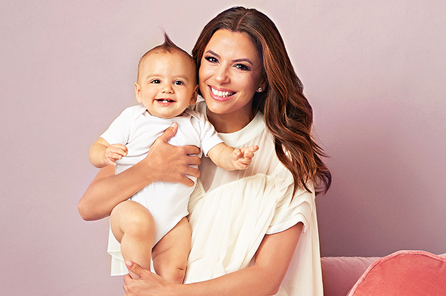 Eva Longoria appeared in the Parents magazine with her one-year-old son Santiago.