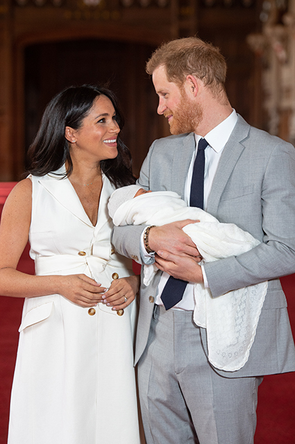 Megan Markle, Prince Harry with son Archie