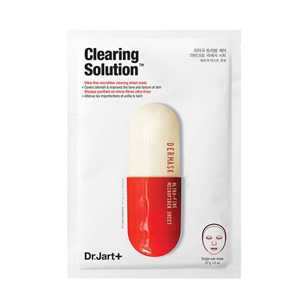 Маска Dermas Clearing Solution Ultra-Fine MIcrofiber Sheet Mask, Dr. Jart+