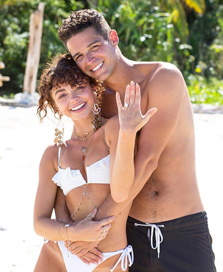 Sarah Highland with beloved Wells Adams