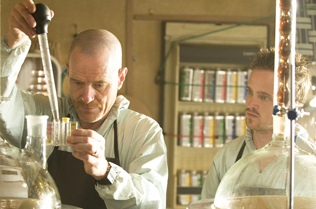 Aaron Paul and Brian Cranston on Breaking Bad