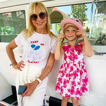 Christina Orbakaite with her friend's daughter