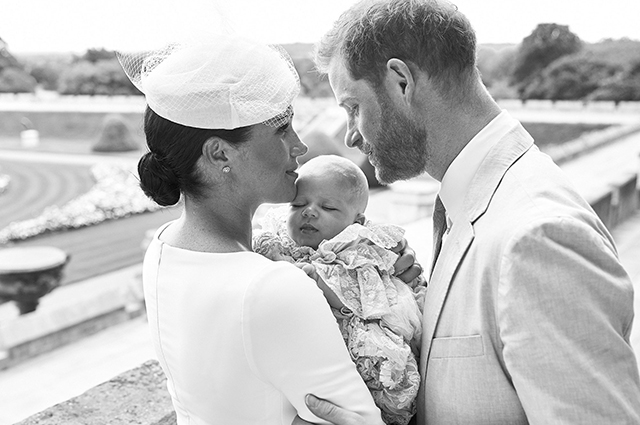 Megan Markle and Prince Harry with son Archie