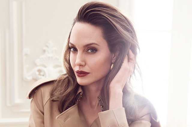 Angelina Jolie starred for gloss and talked about modern